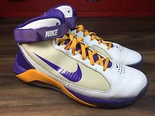 Nike Air Max Hypermax Sz 13 Pau Gasol Lakers Purple Yellow White HOH PE 2008