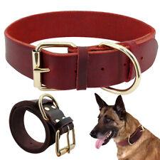 Genuine Leather Dog Collar Full Grain Heavy Duty Small Dog Collar Adjustable
