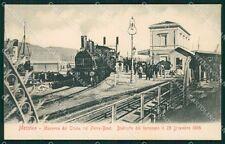 Messina città Stazione Treno cartolina XB3578