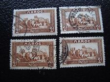MAROC - timbre yvert et tellier n° 145 x4 obl (A29) stamp morocco