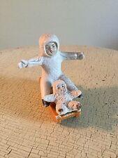Antique German Snowbabies Sled Riding W/ Miniature Snow Baby