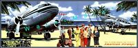 American Airways Vacation 1950's Vintage Poster Print Wall Art Decor Air Travel