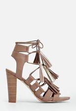 JustFab Taupe JANELLE Dress Sandals UK 5.5 EU 38 LG06 68