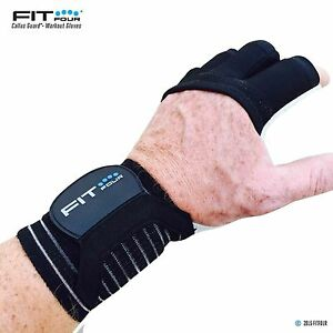 Fit Four F4G Gymnastic Grips with Leather Palm Contour Weight Lifting SIZE LARGE
