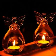 1PC Romantic Angel Crystal Glass Candle Holder Hanging Tea Light Lantern Candles