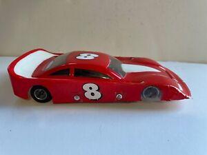 VINTAGE 1/24 CUSTOM NASCAR STOCK CAR SLOT CAR #8 PARMA CHASSIS PSE MOTOR