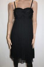 TARGET Brand Black Chiffon Pleated Dress Size 12 BNWT #TB97