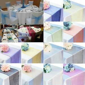 25x Organza Table Runner 275cm x 30cm Wedding Banquet Decoration Various Colours