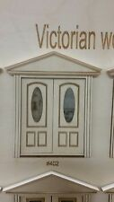 Victorian Arched Oval lite 3 panel French Door 1:24 scale