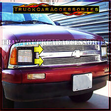 For CHEVY S10 S-10 1994 1995 1996 1997 Upper Main Polished Grille OVERLAYS 2PC