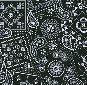 Waverly Paisley Bandana on Black Sewing Quilting Cotton Fabric FQ