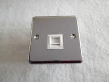 Legrand Synergy Telephone Socket Single Secondary Polished Stainless 733251