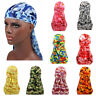 Camouflage Breathable Bandana Hip Hop Hat Durag Do Doo Du Rag Long Tail Headwrap