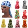 Camouflage Breathable Bandana Hip Hop Hat Durag Do Doo Du Rag Long Tail Headwrap