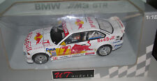 UT MODELS 39715 1:18 SCALE 1997 BMW E36 M3 GTR RED BULL RACE CAR DIETER QUESTER