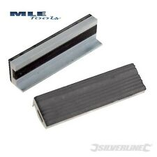 Silverline Rubber Soft Vice Jaws 100mm drill bench engineers 273221