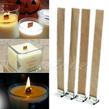 10Pcs 8mm x 90mm Candle Wood Wick with Sustainer Tab Candle Making Supply
