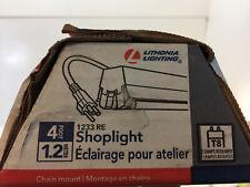 Lithonia Lighting 2-Light White T8 Fluorescent Residential Shop Light 1233 RE