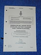 ARMY GENERATOR. Battery Charger 14 / 28 v Hopkins failure diagnosis guide.