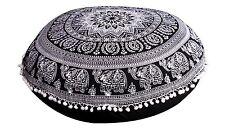 "Indian Large Floor Round Pillows Boho Mandala Tapestry Pillow Shams Ottoman 32"""