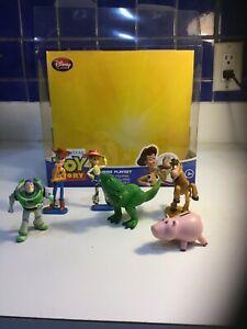 Disney Pixar Toy Story 6 Piece Figurine Set Buzz Lightyear Woody In Box