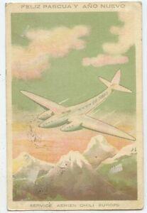 Chile Postkarte Valdivia Wiesbaden 1933
