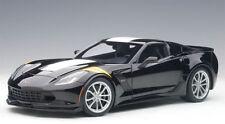 AUTOart Diecast Corvette Grand Sport, Black/White Stripes/Yellow Fender Hash