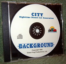 "56009 MODEL RAILROAD SOUND EFFECTS AUDIO CD ""CITY NIGHT VINTAGE DIESEL"""