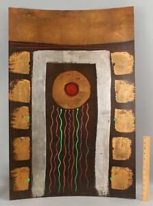 Lrg TONY EVANS American Modernist Abstract Mixed-Media Painting Metal Sculpture