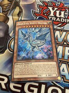 Yu-Gi-Oh Secret Rare Deep-Eyes White Dragon 1st Edition MVP1-ENS05 (NM)