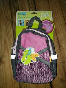 Brica By-My-Side Safety Harness Backpack Pink/Gray (A1)