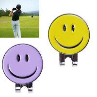 Smile Face Magnetic Hat Clip Golf Ball Marker Clip On Golf Cap Visor 2 Colors