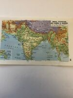 Map 1985: India Pakistan Sri Lanka Burma China Vintage 35 Years Old Print Maps