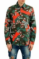 Versace Versus Men's Multi-Color Long Sleeve Casual Shirt US S IT 48