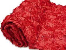 RED RIBBON ROSETTE WEDDING TABLE RUNNER 14 X  78 NEW CUSTOM