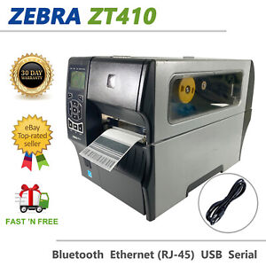 Zebra ZT410 Thermal Transfer Label Printer BT LAN USB ZT41042-T010000Z UPS Frw
