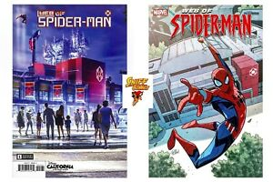 Web Of Spider Man #1 2021 1st Print And B Cover Set Marvel Comics