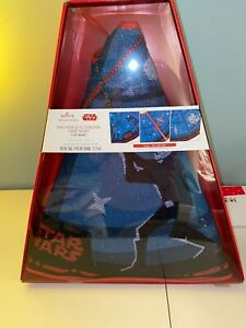 "Star Wars Christmas Tree Skirt The Force Is Strong Hallmark 48"" Diameter New"