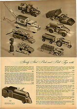 1949 Papier AD 5 PG Spielzeug LKW Structo Ride em Lok Jeep Dump Disk Tracy Auto