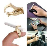 Adjustable Metal Smoking Cigarette Ring Holder Hand Rack Clip Regular Accessory