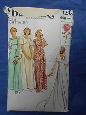 Vintage sewing pattern 1970s EMPIRE LINE WEDDING DRESS bridesmaid Butterick 4298