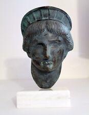 Vintage 100% Solid Bronze Sculpture Lady Liberty Head by Gabriel Grun Yantorno