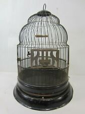 Vintage Hendryx Steel Cathedral Top Bird Cage- Black