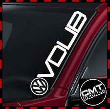 VDUB Car/Van Windscreen Decal Sticker Volkswagen DUB Euro VW - 17 Colours 550mm