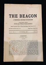 The Beacon, Occultism periodical, 1929, occult, mythology, theosophy, cosmos