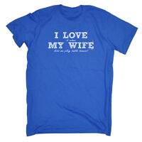 Funny Novelty T-Shirt Mens tee TShirt - Love Wife Table Tennis