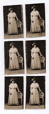 PHOTO Femme Mode Vers 1900 Fashion Portrait Chapeau Dentelle Lot 6 photos Chaise