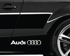 2 X AUDI RINGS CAR VINYL STICKERS GRAPHICS DECALS LOGO
