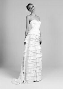 Temperley London Long Ivory Dragon Wedding Bridal Dress Size UK 10 USA 6 ,  ##