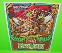 Paragon Pinball FLYER 1979 Original NOS Bally Game Art Sheet Foldout Brochure